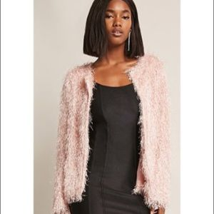 Women's blush accent blazer jacket